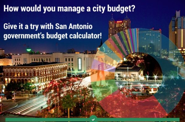 San Antonio puts budget online so citizens can weigh in: @USIndivisible, @BalancingActEP https://t.co/olbL5nTY0z https://t.co/tGg4eFrp8I