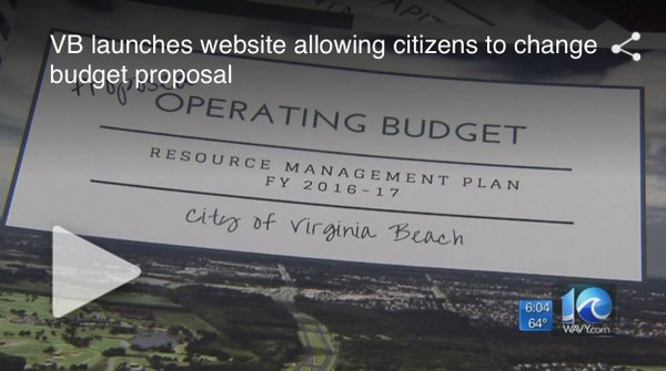 @CityofVaBeach uses @BalancingActEP to get taxpayer input on city budget: https://t.co/C4MsOpZNJv #civictec https://t.co/Osf7Uywm9b