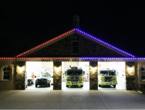 PA fire department uses lights from @oelolighting to cheer on #TeamUSA in #Rio2016 : https://t.co/lm7XLJXWF1 https://t.co/RoO3qjffxA